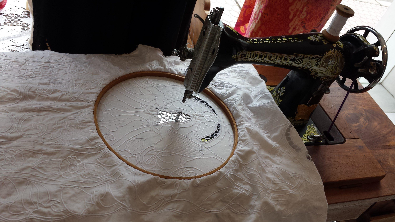 Boutique Uluwatu à Ubud. Fabrication de la dentelle traditionnelle.