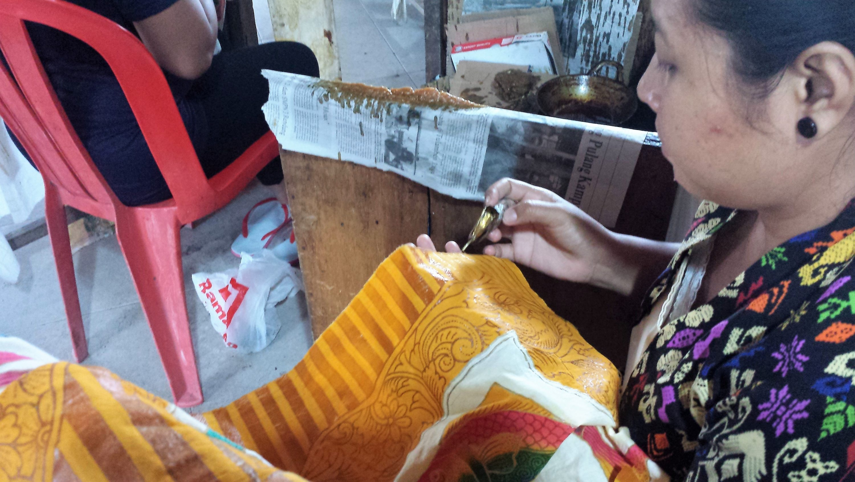 Batik fabriqué localement à Bali
