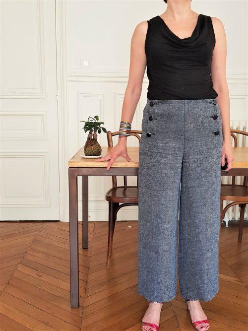 Patron de pantalon à pont Pantalon Atomic