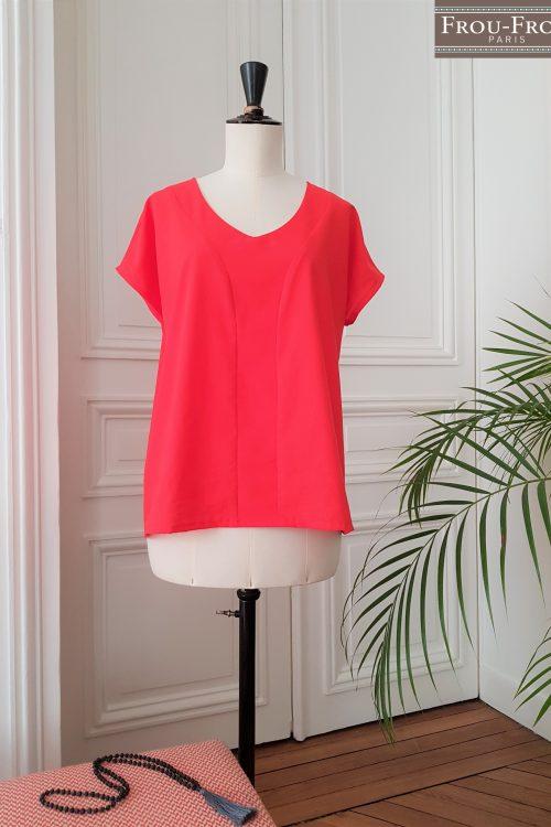 Cours de couture découverte blouse Stay pretty X Frou-Frou_coquelicot_logo