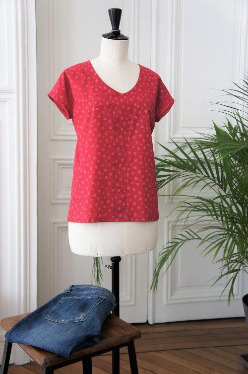 Cours de couture découverte: top Stay pretty X Frou-Frou