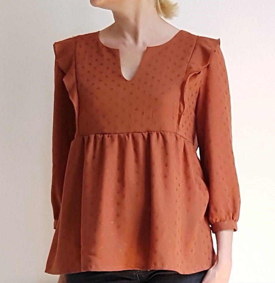 Blouse in the sun manches 3/4