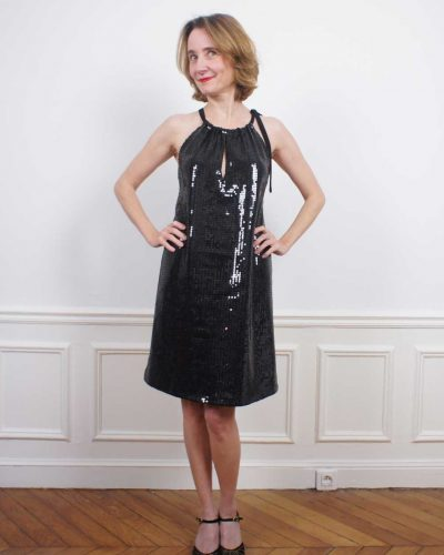Robe Dreaming Sequin Noir